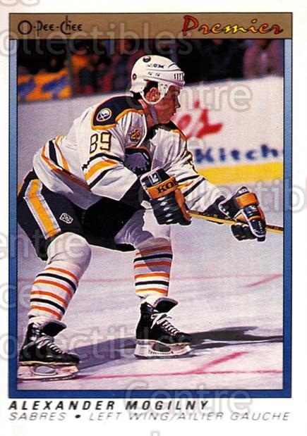 1990-91 OPC Premier #75 Alexander Mogilny<br/>4 In Stock - $3.00 each - <a href=https://centericecollectibles.foxycart.com/cart?name=1990-91%20OPC%20Premier%20%2375%20Alexander%20Mogil...&price=$3.00&code=306341 class=foxycart> Buy it now! </a>