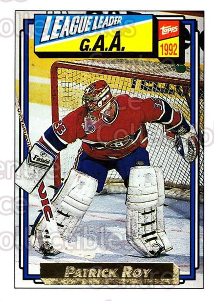 1992-93 Topps Gold #110 Patrick Roy<br/>1 In Stock - $5.00 each - <a href=https://centericecollectibles.foxycart.com/cart?name=1992-93%20Topps%20Gold%20%23110%20Patrick%20Roy...&price=$5.00&code=306350 class=foxycart> Buy it now! </a>