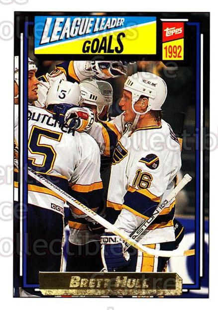 1992-93 Topps Gold #340 Brett Hull<br/>2 In Stock - $3.00 each - <a href=https://centericecollectibles.foxycart.com/cart?name=1992-93%20Topps%20Gold%20%23340%20Brett%20Hull...&quantity_max=2&price=$3.00&code=306358 class=foxycart> Buy it now! </a>