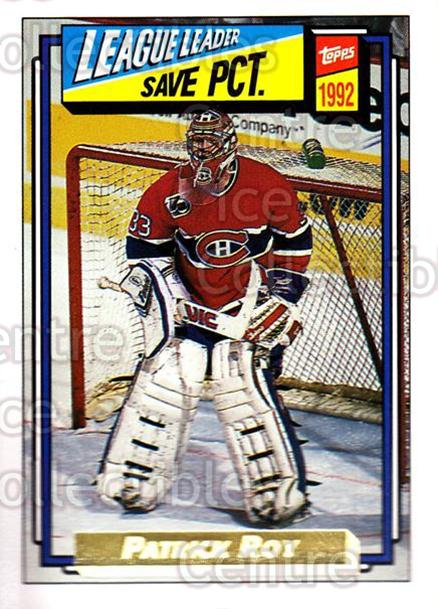 1992-93 Topps Gold #491 Patrick Roy<br/>4 In Stock - $5.00 each - <a href=https://centericecollectibles.foxycart.com/cart?name=1992-93%20Topps%20Gold%20%23491%20Patrick%20Roy...&price=$5.00&code=306364 class=foxycart> Buy it now! </a>