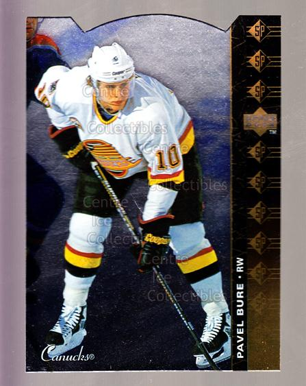 1994-95 Upper Deck SP Inserts Die Cuts #171 Pavel Bure<br/>7 In Stock - $5.00 each - <a href=https://centericecollectibles.foxycart.com/cart?name=1994-95%20Upper%20Deck%20SP%20Inserts%20Die%20Cuts%20%23171%20Pavel%20Bure...&quantity_max=7&price=$5.00&code=306388 class=foxycart> Buy it now! </a>