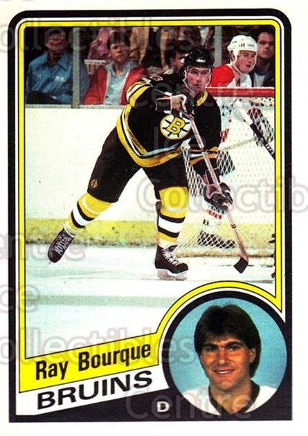 1984-85 O-Pee-Chee #1 Ray Bourque<br/>9 In Stock - $5.00 each - <a href=https://centericecollectibles.foxycart.com/cart?name=1984-85%20O-Pee-Chee%20%231%20Ray%20Bourque...&quantity_max=9&price=$5.00&code=30638 class=foxycart> Buy it now! </a>
