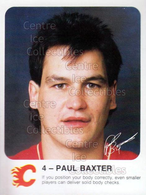 1985-86 Calgary Flames Red Rooster #1 Paul Baxter<br/>1 In Stock - $3.00 each - <a href=https://centericecollectibles.foxycart.com/cart?name=1985-86%20Calgary%20Flames%20Red%20Rooster%20%231%20Paul%20Baxter...&quantity_max=1&price=$3.00&code=30641 class=foxycart> Buy it now! </a>