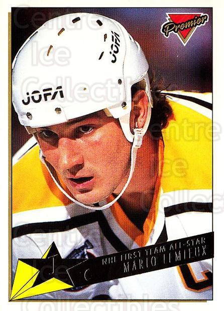 1993-94 Topps Premier Gold #91 Mario Lemieux<br/>2 In Stock - $3.00 each - <a href=https://centericecollectibles.foxycart.com/cart?name=1993-94%20Topps%20Premier%20Gold%20%2391%20Mario%20Lemieux...&quantity_max=2&price=$3.00&code=306420 class=foxycart> Buy it now! </a>