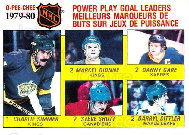1980-81 O-Pee-Chee #165 Charlie Simmer, Marcel Dionne, Danny Gare, Steve Shutt, Darryl Sittler<br/>1 In Stock - $2.00 each - <a href=https://centericecollectibles.foxycart.com/cart?name=1980-81%20O-Pee-Chee%20%23165%20Charlie%20Simmer,...&quantity_max=1&price=$2.00&code=306584 class=foxycart> Buy it now! </a>