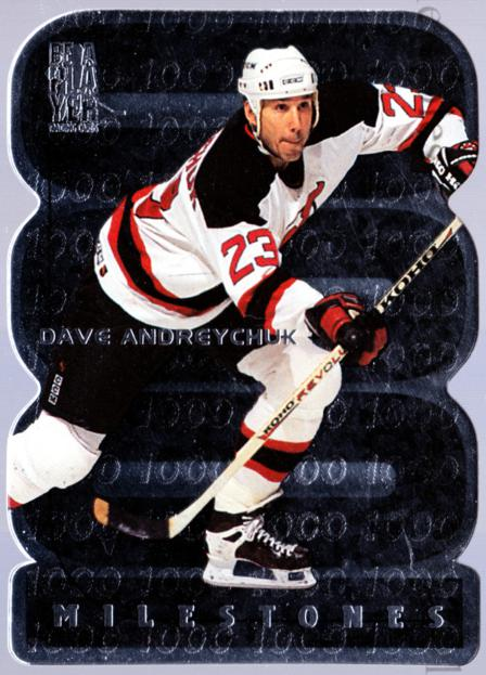 1998-99 Be A Player Milestones #21 Dave Andreychuk<br/>10 In Stock - $3.00 each - <a href=https://centericecollectibles.foxycart.com/cart?name=1998-99%20Be%20A%20Player%20Milestones%20%2321%20Dave%20Andreychuk...&quantity_max=10&price=$3.00&code=306784 class=foxycart> Buy it now! </a>