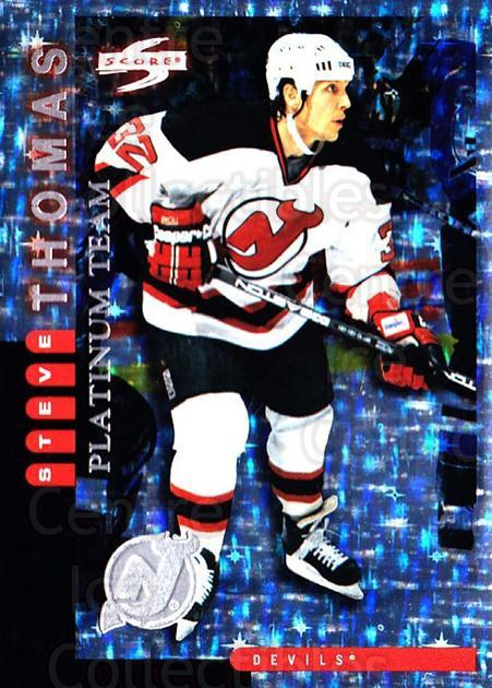 1997-98 Score New Jersey Devils Platinum #10 Steve Thomas<br/>1 In Stock - $5.00 each - <a href=https://centericecollectibles.foxycart.com/cart?name=1997-98%20Score%20New%20Jersey%20Devils%20Platinum%20%2310%20Steve%20Thomas...&quantity_max=1&price=$5.00&code=306929 class=foxycart> Buy it now! </a>