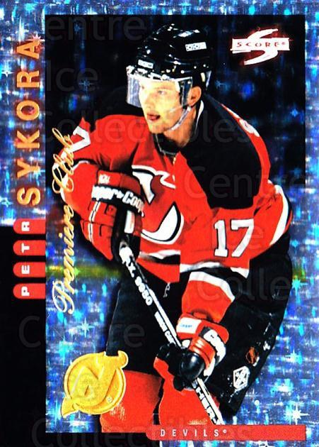1997-98 Score New Jersey Devils Premiere Club #14 Petr Sykora<br/>1 In Stock - $10.00 each - <a href=https://centericecollectibles.foxycart.com/cart?name=1997-98%20Score%20New%20Jersey%20Devils%20Premiere%20Club%20%2314%20Petr%20Sykora...&quantity_max=1&price=$10.00&code=306950 class=foxycart> Buy it now! </a>