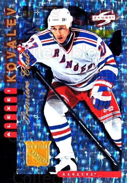 1997-98 Score New York Rangers Premiere Club #7 Alexei Kovalev<br/>1 In Stock - $10.00 each - <a href=https://centericecollectibles.foxycart.com/cart?name=1997-98%20Score%20New%20York%20Rangers%20Premiere%20Club%20%237%20Alexei%20Kovalev...&quantity_max=1&price=$10.00&code=306978 class=foxycart> Buy it now! </a>