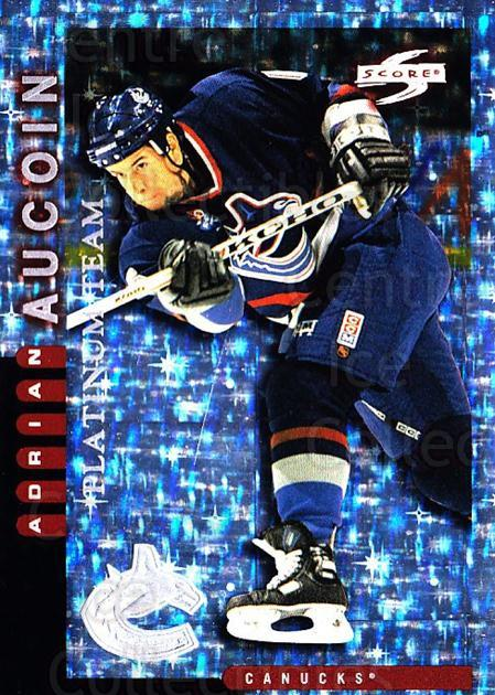 1997-98 Score Vancouver Canucks Platinum #14 Adrian Aucoin<br/>1 In Stock - $5.00 each - <a href=https://centericecollectibles.foxycart.com/cart?name=1997-98%20Score%20Vancouver%20Canucks%20Platinum%20%2314%20Adrian%20Aucoin...&quantity_max=1&price=$5.00&code=307045 class=foxycart> Buy it now! </a>