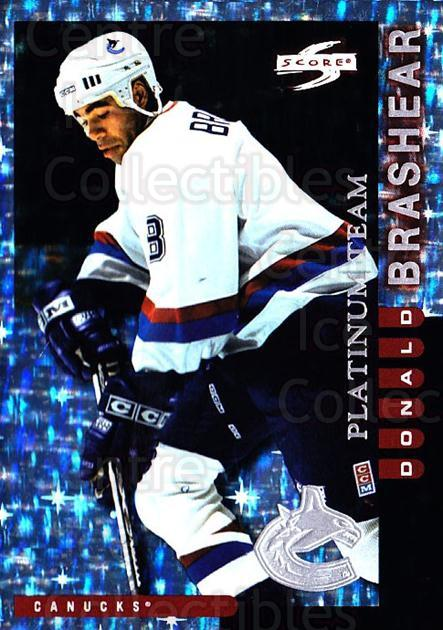 1997-98 Score Vancouver Canucks Platinum #17 Donald Brashear<br/>1 In Stock - $5.00 each - <a href=https://centericecollectibles.foxycart.com/cart?name=1997-98%20Score%20Vancouver%20Canucks%20Platinum%20%2317%20Donald%20Brashear...&quantity_max=1&price=$5.00&code=307048 class=foxycart> Buy it now! </a>