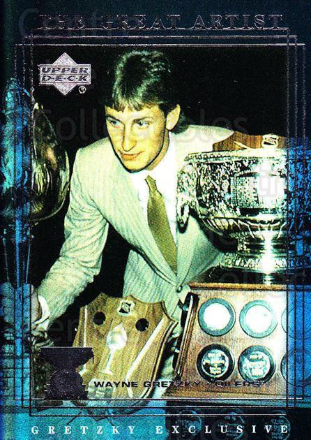 1999-00 Upper Deck Wayne Gretzky Exclusives #49 Wayne Gretzky, Art Ross Trophy<br/>2 In Stock - $2.00 each - <a href=https://centericecollectibles.foxycart.com/cart?name=1999-00%20Upper%20Deck%20Wayne%20Gretzky%20Exclusives%20%2349%20Wayne%20Gretzky,%20...&price=$2.00&code=307105 class=foxycart> Buy it now! </a>