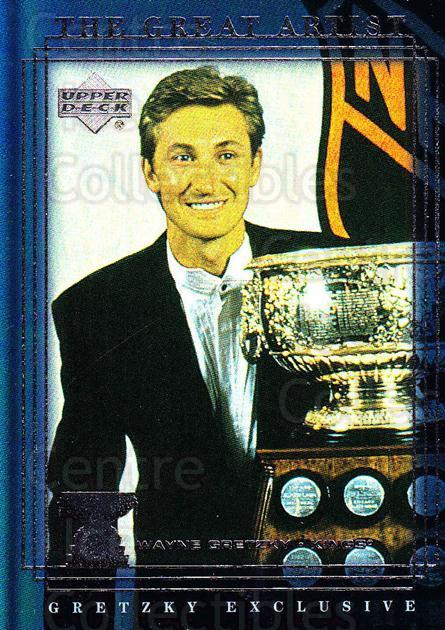 1999-00 Upper Deck Wayne Gretzky Exclusives #55 Wayne Gretzky, Art Ross Trophy<br/>1 In Stock - $2.00 each - <a href=https://centericecollectibles.foxycart.com/cart?name=1999-00%20Upper%20Deck%20Wayne%20Gretzky%20Exclusives%20%2355%20Wayne%20Gretzky,%20...&price=$2.00&code=307106 class=foxycart> Buy it now! </a>