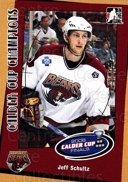 2006-07 ITG Heroes and Prospects Calder Cup Champions #12 Jeff Schultz<br/>8 In Stock - $3.00 each - <a href=https://centericecollectibles.foxycart.com/cart?name=2006-07%20ITG%20Heroes%20and%20Prospects%20Calder%20Cup%20Champions%20%2312%20Jeff%20Schultz...&quantity_max=8&price=$3.00&code=307129 class=foxycart> Buy it now! </a>