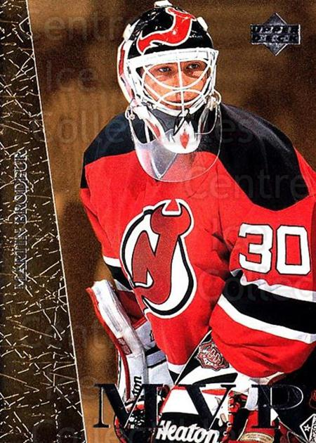 1996-97 Collectors Choice MVP Gold #21 Martin Brodeur<br/>1 In Stock - $10.00 each - <a href=https://centericecollectibles.foxycart.com/cart?name=1996-97%20Collectors%20Choice%20MVP%20Gold%20%2321%20Martin%20Brodeur...&price=$10.00&code=307952 class=foxycart> Buy it now! </a>