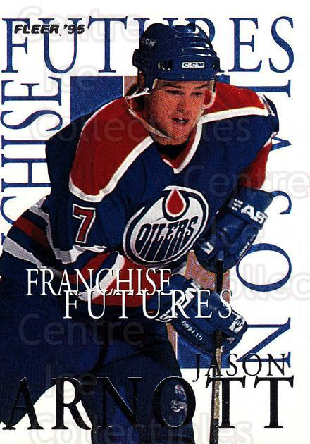 1994-95 Fleer Franchise Futures #1 Jason Arnott<br/>1 In Stock - $2.00 each - <a href=https://centericecollectibles.foxycart.com/cart?name=1994-95%20Fleer%20Franchise%20Futures%20%231%20Jason%20Arnott...&quantity_max=1&price=$2.00&code=30845 class=foxycart> Buy it now! </a>