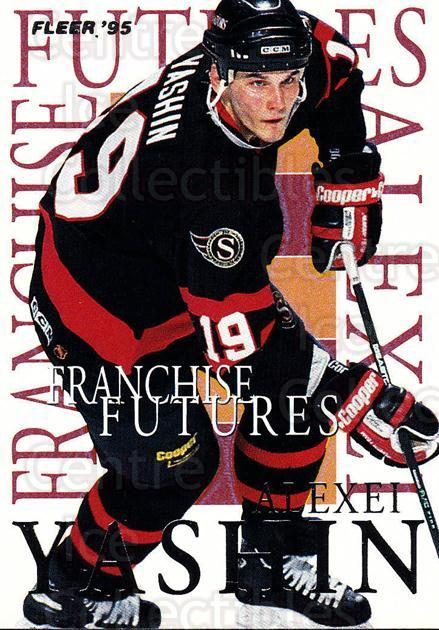 1994-95 Fleer Franchise Futures #9 Alexei Yashin<br/>2 In Stock - $2.00 each - <a href=https://centericecollectibles.foxycart.com/cart?name=1994-95%20Fleer%20Franchise%20Futures%20%239%20Alexei%20Yashin...&quantity_max=2&price=$2.00&code=30851 class=foxycart> Buy it now! </a>