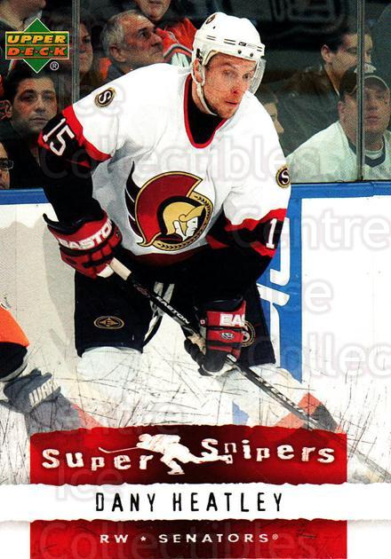 2007-08 Upper Deck Super Snipers #2 Dany Heatley<br/>6 In Stock - $2.00 each - <a href=https://centericecollectibles.foxycart.com/cart?name=2007-08%20Upper%20Deck%20Super%20Snipers%20%232%20Dany%20Heatley...&quantity_max=6&price=$2.00&code=308567 class=foxycart> Buy it now! </a>