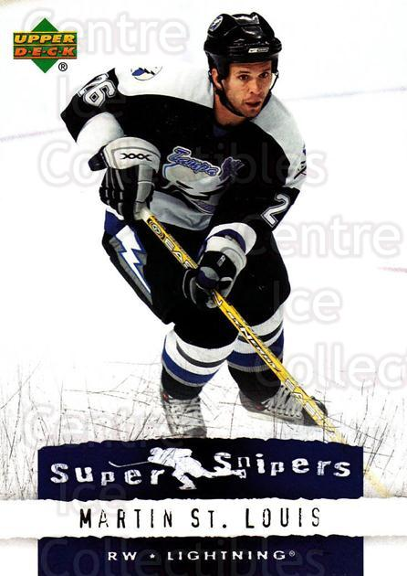 2007-08 Upper Deck Super Snipers #4 Martin St. Louis<br/>8 In Stock - $2.00 each - <a href=https://centericecollectibles.foxycart.com/cart?name=2007-08%20Upper%20Deck%20Super%20Snipers%20%234%20Martin%20St.%20Loui...&quantity_max=8&price=$2.00&code=308569 class=foxycart> Buy it now! </a>