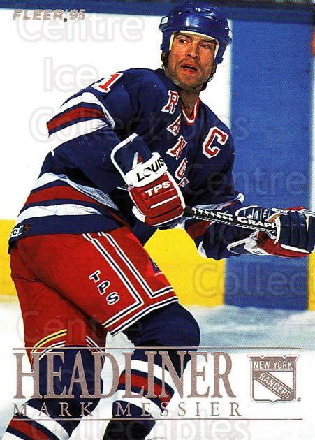 1994-95 Fleer Headliners #7 Mark Messier<br/>4 In Stock - $2.00 each - <a href=https://centericecollectibles.foxycart.com/cart?name=1994-95%20Fleer%20Headliners%20%237%20Mark%20Messier...&quantity_max=4&price=$2.00&code=30856 class=foxycart> Buy it now! </a>