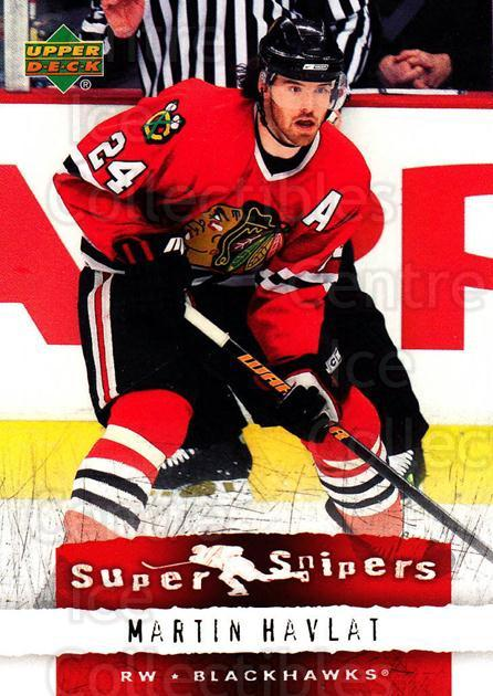 2007-08 Upper Deck Super Snipers #10 Martin Havlat<br/>6 In Stock - $2.00 each - <a href=https://centericecollectibles.foxycart.com/cart?name=2007-08%20Upper%20Deck%20Super%20Snipers%20%2310%20Martin%20Havlat...&quantity_max=6&price=$2.00&code=308575 class=foxycart> Buy it now! </a>