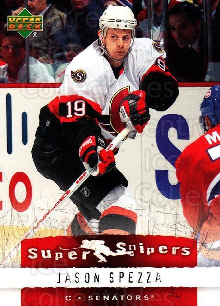 <a href=index.aspx?SetName=2007-08%20Upper%20Deck%20Super%20Snipers>2007-08 Upper Deck Super Snipers</a> #13 <a href=index.aspx?PlayerName=Jason%20Spezza> Jason Spezza</a><br/>4 in stock - $2.00 each - <a href=https://centericecollectibles.foxycart.com/cart?name=2007-08%20Upper%20Deck%20Super%20Snipers%20%2313%20Jason%20Spezza...&price=$2.00&code=308578 class=foxycart> Buy it now! </a>