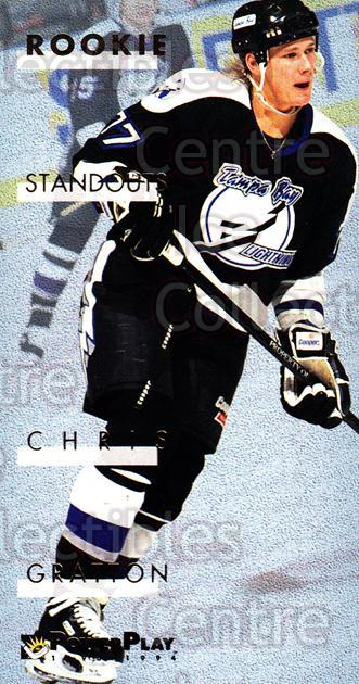 1993-94 PowerPlay Rookie Standouts #5 Chris Gratton<br/>5 In Stock - $3.00 each - <a href=https://centericecollectibles.foxycart.com/cart?name=1993-94%20PowerPlay%20Rookie%20Standouts%20%235%20Chris%20Gratton...&quantity_max=5&price=$3.00&code=308661 class=foxycart> Buy it now! </a>