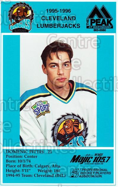 1995-96 Cleveland Lumberjacks Postcards #22 Dominic Pittis<br/>5 In Stock - $3.00 each - <a href=https://centericecollectibles.foxycart.com/cart?name=1995-96%20Cleveland%20Lumberjacks%20Postcards%20%2322%20Dominic%20Pittis...&quantity_max=5&price=$3.00&code=308799 class=foxycart> Buy it now! </a>