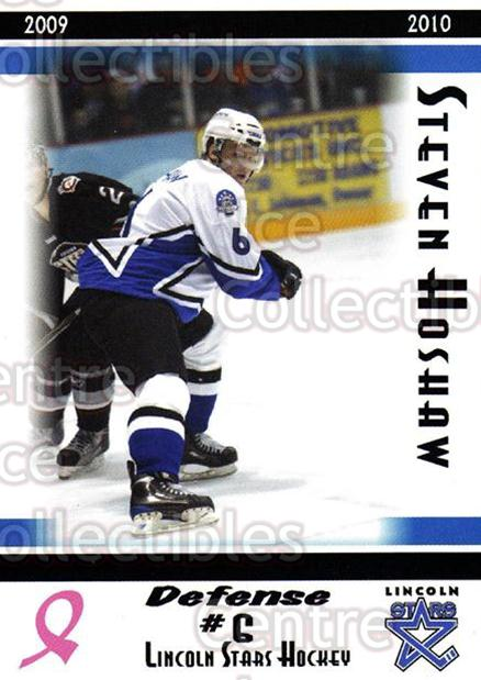 2009-10 Lincoln Stars #6 Steven Hoshaw<br/>3 In Stock - $3.00 each - <a href=https://centericecollectibles.foxycart.com/cart?name=2009-10%20Lincoln%20Stars%20%236%20Steven%20Hoshaw...&quantity_max=3&price=$3.00&code=308916 class=foxycart> Buy it now! </a>