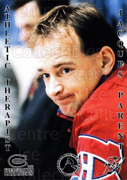 1994-95 Fredericton Canadiens #22 Jacques Parent<br/>2 In Stock - $3.00 each - <a href=https://centericecollectibles.foxycart.com/cart?name=1994-95%20Fredericton%20Canadiens%20%2322%20Jacques%20Parent...&quantity_max=2&price=$3.00&code=30893 class=foxycart> Buy it now! </a>
