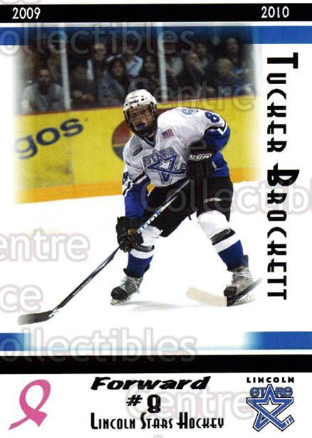 2009-10 Lincoln Stars High Gloss #7 Tucker Brockett<br/>3 In Stock - $3.00 each - <a href=https://centericecollectibles.foxycart.com/cart?name=2009-10%20Lincoln%20Stars%20High%20Gloss%20%237%20Tucker%20Brockett...&quantity_max=3&price=$3.00&code=308943 class=foxycart> Buy it now! </a>