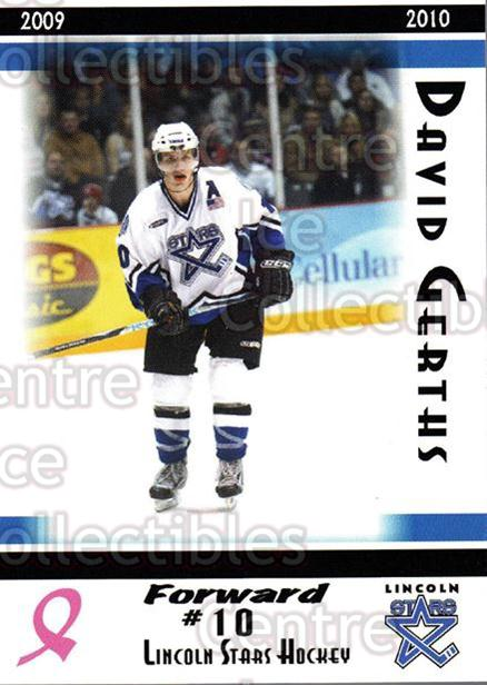 2009-10 Lincoln Stars High Gloss #9 David Gerths<br/>3 In Stock - $3.00 each - <a href=https://centericecollectibles.foxycart.com/cart?name=2009-10%20Lincoln%20Stars%20High%20Gloss%20%239%20David%20Gerths...&quantity_max=3&price=$3.00&code=308945 class=foxycart> Buy it now! </a>