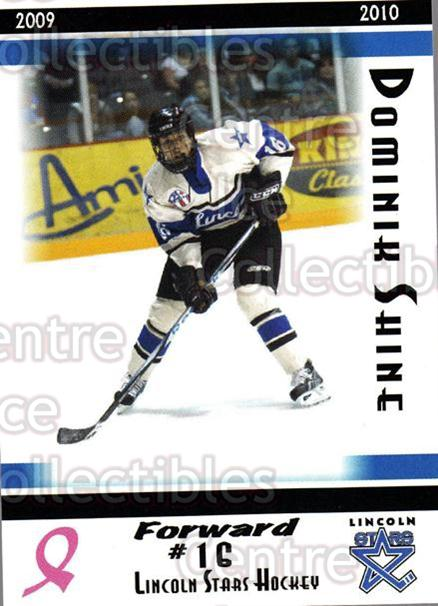 2009-10 Lincoln Stars High Gloss #14 Dominik Shine<br/>3 In Stock - $3.00 each - <a href=https://centericecollectibles.foxycart.com/cart?name=2009-10%20Lincoln%20Stars%20High%20Gloss%20%2314%20Dominik%20Shine...&quantity_max=3&price=$3.00&code=308950 class=foxycart> Buy it now! </a>