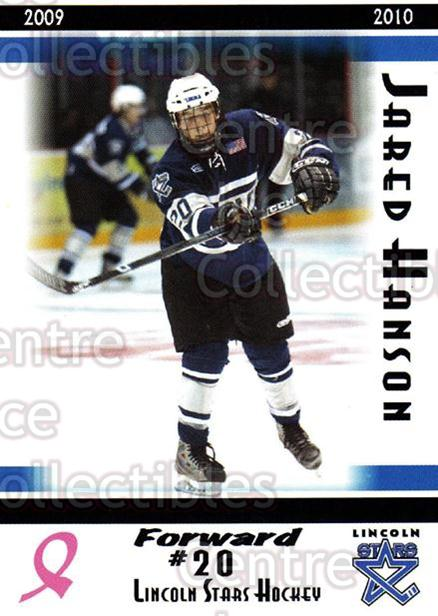 2009-10 Lincoln Stars High Gloss #18 Jared Hanson<br/>3 In Stock - $3.00 each - <a href=https://centericecollectibles.foxycart.com/cart?name=2009-10%20Lincoln%20Stars%20High%20Gloss%20%2318%20Jared%20Hanson...&price=$3.00&code=308954 class=foxycart> Buy it now! </a>