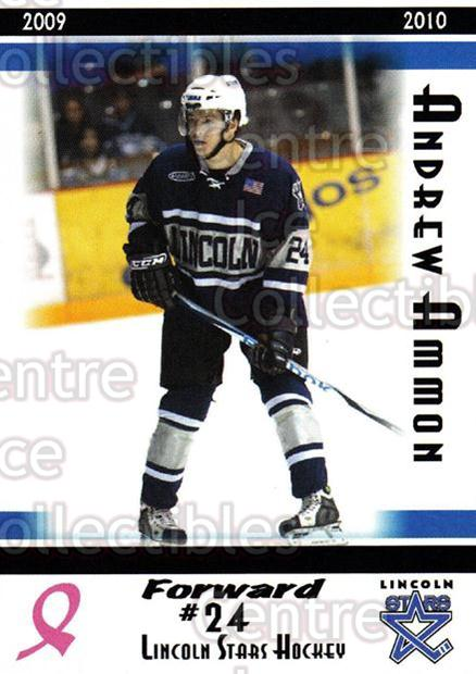 2009-10 Lincoln Stars High Gloss #22 Andrew Ammon<br/>3 In Stock - $3.00 each - <a href=https://centericecollectibles.foxycart.com/cart?name=2009-10%20Lincoln%20Stars%20High%20Gloss%20%2322%20Andrew%20Ammon...&quantity_max=3&price=$3.00&code=308958 class=foxycart> Buy it now! </a>