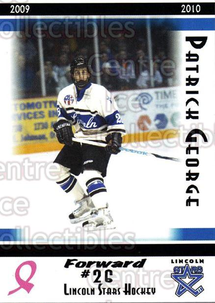 2009-10 Lincoln Stars High Gloss #24 Patrick George<br/>2 In Stock - $3.00 each - <a href=https://centericecollectibles.foxycart.com/cart?name=2009-10%20Lincoln%20Stars%20High%20Gloss%20%2324%20Patrick%20George...&quantity_max=2&price=$3.00&code=308960 class=foxycart> Buy it now! </a>