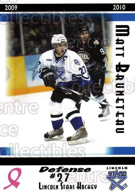 2009-10 Lincoln Stars High Gloss #25 Matt Bruneteau<br/>3 In Stock - $3.00 each - <a href=https://centericecollectibles.foxycart.com/cart?name=2009-10%20Lincoln%20Stars%20High%20Gloss%20%2325%20Matt%20Bruneteau...&quantity_max=3&price=$3.00&code=308961 class=foxycart> Buy it now! </a>