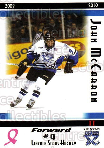 2009-10 Lincoln Stars High Gloss #32 John McCarron<br/>4 In Stock - $3.00 each - <a href=https://centericecollectibles.foxycart.com/cart?name=2009-10%20Lincoln%20Stars%20High%20Gloss%20%2332%20John%20McCarron...&quantity_max=4&price=$3.00&code=308968 class=foxycart> Buy it now! </a>