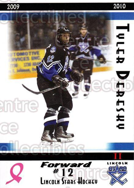 2009-10 Lincoln Stars High Gloss #35 Tyler Deresky<br/>3 In Stock - $3.00 each - <a href=https://centericecollectibles.foxycart.com/cart?name=2009-10%20Lincoln%20Stars%20High%20Gloss%20%2335%20Tyler%20Deresky...&quantity_max=3&price=$3.00&code=308971 class=foxycart> Buy it now! </a>
