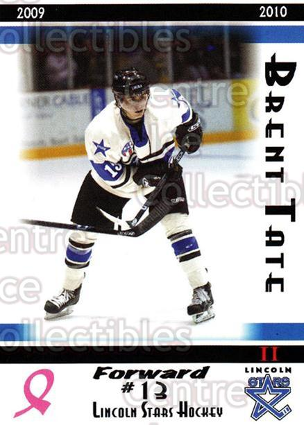2009-10 Lincoln Stars High Gloss #36 Brent Tate<br/>4 In Stock - $3.00 each - <a href=https://centericecollectibles.foxycart.com/cart?name=2009-10%20Lincoln%20Stars%20High%20Gloss%20%2336%20Brent%20Tate...&quantity_max=4&price=$3.00&code=308972 class=foxycart> Buy it now! </a>
