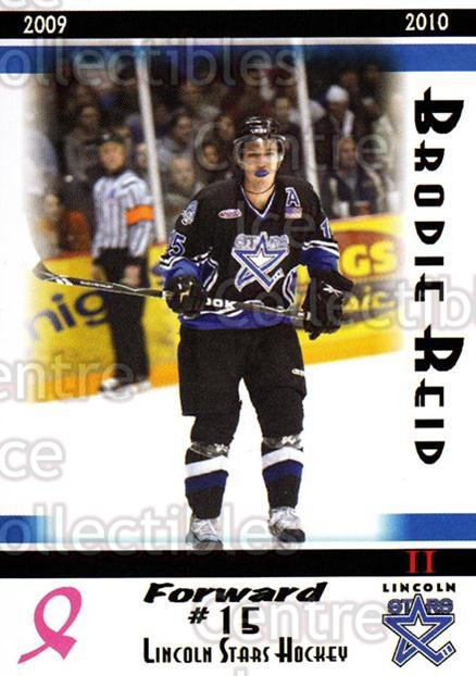 2009-10 Lincoln Stars High Gloss #38 Brodie Reid<br/>2 In Stock - $3.00 each - <a href=https://centericecollectibles.foxycart.com/cart?name=2009-10%20Lincoln%20Stars%20High%20Gloss%20%2338%20Brodie%20Reid...&quantity_max=2&price=$3.00&code=308974 class=foxycart> Buy it now! </a>