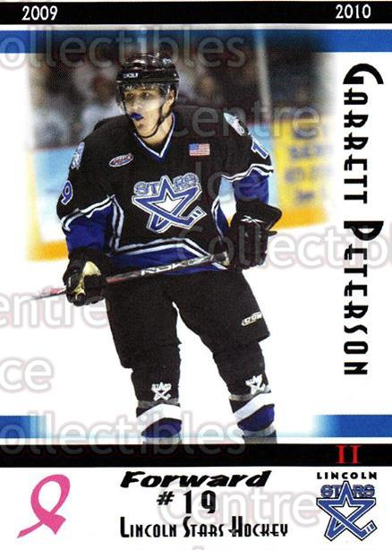 2009-10 Lincoln Stars High Gloss #42 Garrett Peterson<br/>4 In Stock - $3.00 each - <a href=https://centericecollectibles.foxycart.com/cart?name=2009-10%20Lincoln%20Stars%20High%20Gloss%20%2342%20Garrett%20Peterso...&quantity_max=4&price=$3.00&code=308978 class=foxycart> Buy it now! </a>