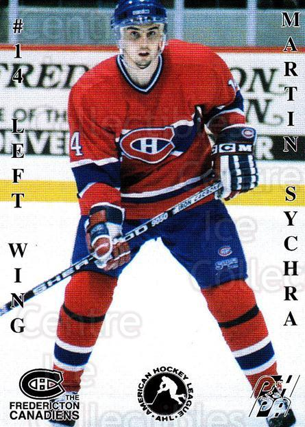 1994-95 Fredericton Canadiens #27 Martin Sychra<br/>1 In Stock - $3.00 each - <a href=https://centericecollectibles.foxycart.com/cart?name=1994-95%20Fredericton%20Canadiens%20%2327%20Martin%20Sychra...&quantity_max=1&price=$3.00&code=30898 class=foxycart> Buy it now! </a>