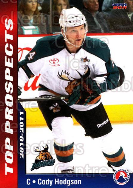 2010-11 AHL Top Prospects #20 Cody Hodgson<br/>2 In Stock - $3.00 each - <a href=https://centericecollectibles.foxycart.com/cart?name=2010-11%20AHL%20Top%20Prospects%20%2320%20Cody%20Hodgson...&quantity_max=2&price=$3.00&code=309096 class=foxycart> Buy it now! </a>