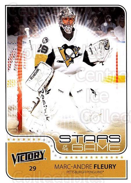 2011-12 UD Victory Stars of the Game #MF Marc-Andre Fleury<br/>3 In Stock - $3.00 each - <a href=https://centericecollectibles.foxycart.com/cart?name=2011-12%20UD%20Victory%20Stars%20of%20the%20Game%20%23MF%20Marc-Andre%20Fleu...&quantity_max=3&price=$3.00&code=309163 class=foxycart> Buy it now! </a>