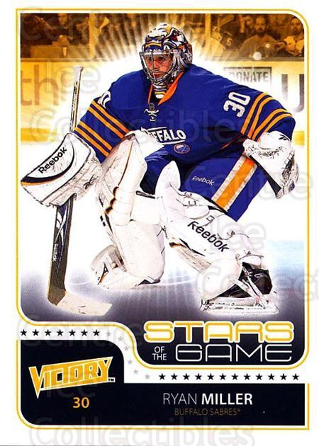 2011-12 UD Victory Stars of the Game #RM Ryan Miller<br/>2 In Stock - $2.00 each - <a href=https://centericecollectibles.foxycart.com/cart?name=2011-12%20UD%20Victory%20Stars%20of%20the%20Game%20%23RM%20Ryan%20Miller...&quantity_max=2&price=$2.00&code=309171 class=foxycart> Buy it now! </a>