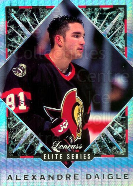 1993-94 Donruss Elite Inserts #2 Alexandre Daigle<br/>8 In Stock - $5.00 each - <a href=https://centericecollectibles.foxycart.com/cart?name=1993-94%20Donruss%20Elite%20Inserts%20%232%20Alexandre%20Daigl...&price=$5.00&code=309199 class=foxycart> Buy it now! </a>