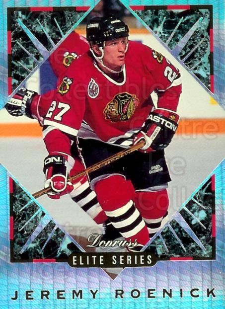 1993-94 Donruss Elite Inserts #6 Jeremy Roenick<br/>3 In Stock - $5.00 each - <a href=https://centericecollectibles.foxycart.com/cart?name=1993-94%20Donruss%20Elite%20Inserts%20%236%20Jeremy%20Roenick...&price=$5.00&code=309203 class=foxycart> Buy it now! </a>