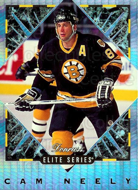 1993-94 Donruss Elite Inserts Update #4 Cam Neely<br/>1 In Stock - $5.00 each - <a href=https://centericecollectibles.foxycart.com/cart?name=1993-94%20Donruss%20Elite%20Inserts%20Update%20%234%20Cam%20Neely...&price=$5.00&code=309211 class=foxycart> Buy it now! </a>
