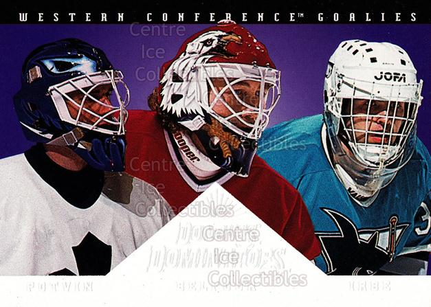 1994-95 Donruss Dominators #7 Arturs Irbe, Ed Belfour, Felix Potvin<br/>1 In Stock - $5.00 each - <a href=https://centericecollectibles.foxycart.com/cart?name=1994-95%20Donruss%20Dominators%20%237%20Arturs%20Irbe,%20Ed...&quantity_max=1&price=$5.00&code=309222 class=foxycart> Buy it now! </a>